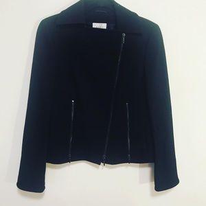 Akris punto size zipper wool jacket in black sz 8